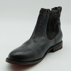 Bed Stu Handcrafted Womans Ankle Boot Black NEW